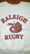 Vtg 90's CHAMPION Reverse Weave Sweatshirt Size Large RALEIGH RUGBY World Cup