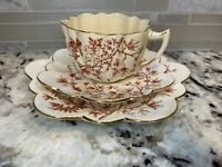 LIMOGES? Collectors Plate Set Tea Cup Saucer Desert France 1383 Very Rare