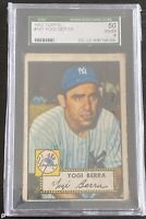 1952 TOPPS  YOGI BERRA  #191  SGC 4 HOF MVP Most Rings King 11!!! 👑 ⚾️