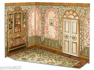 Room Box for Dolls NURSERY BABY'S ROOM Dollhouse Miniature Scale 1:12 Model Kit