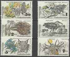 Timbres Animaux Tchécoslovaquie 2530/5 ** lot 19865