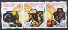 EAST GERMANY DDR 1975 International Women's Year. Set of 3. MNH. SGE1735/1737.