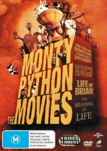 Monty Python The Movies BRAND NEW R4 DVD Holy Grail Life Of Brian