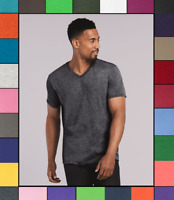 Gildan Adult Softstyle V-Neck T-Shirt Cotton Short Sleeve Blank Tee Top S-3XL