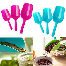 3pcs Candy Color Pets Dog Cat Puppy Food Spoon Scoop Shovel Plastic