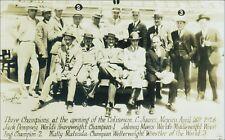 Sports: Boxer Jack Dempsey, Wrestlers Johnny Myers, Matty Matsuda. 1926 RPPC.