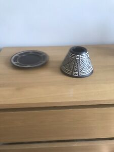 Yankee Candle African Etched Large Lampshade And Tray (candle Not Included)