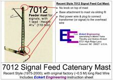 EE 7012 New Recent Style Feeder Catenary Mast with factory 0.5 meter Wire w OBX
