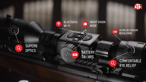 ATN X-Sight 4K PRO 5-20 IR Torch Day-Night Smart Hunting Scope