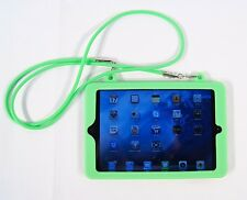 Apple iPad Mini 1 2 3 4 Soft Silicone Rubber Case Wearable Shoulder Strap Green