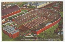 Football Stadium University Minnesota Minneapolis postcard