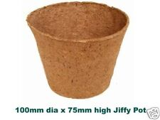 100mm Dia Jiffy Garden Plant Pots - Biodegradable x TEN