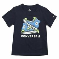 Boy's Converse Infant Bio Chuck Short Sleeve Crew Neck T-Shirt in Blue
