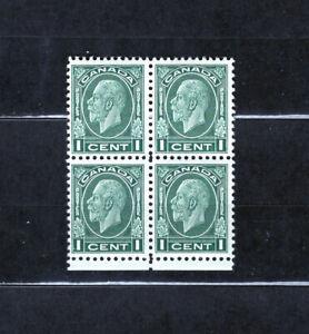 Canada 195 F-VF og NH block, CV $10