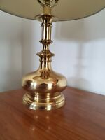 Vtg Mid Century Brass Genie Bottle Table Lamp * 21""