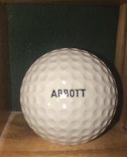 Vintage 70's Logo Golf Ball Abbott Fero Folic 500 Faultless Spalding