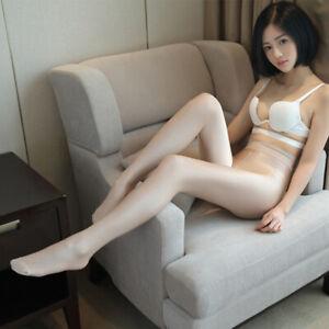 Women Wetlook 70 Denier Footed Stockings Control Top High Waist Tights Pantyhose