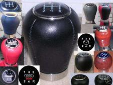 SCHALTKNAUF BELEUCHTET aus Leder oder aus Holz alle Audi Modelle  5-6 Gang NEU