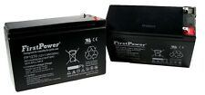 (2) FirstPower 12v 7ah for Scooter Bike Battery Replaces 7Ah Yeuyang 6-DW-7