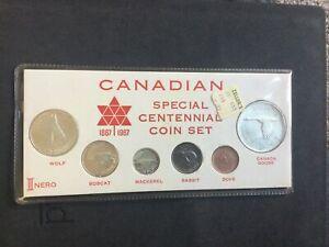 1967 Canada Centennial Coin Mint Set ~ Capital Holder ~.800 Silver