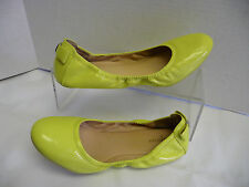 COLE HAAN Womens Ballet Flats Sz 11B Lime Green Patent Leather Rubber Sole Mint