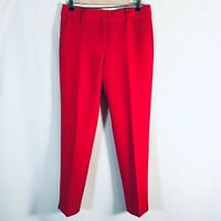 Talbots Red Hampshire Ankle Dress Pants Size 6 Slim Straight Leg Flat Front  NEW