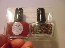 CIATE LONDON christmas tree caviar & boudoir MINI nail POLISH boxed SET / DUO