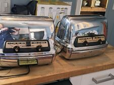 2 Vintage General Electric Chrome Toaster / Toaster Ovens #35T83