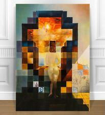 """SALVADOR DALI Lincoln in Dalivision CANVAS PRINT 16x12"""" SURREAL ART"""