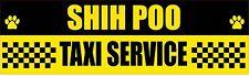SHIH POO TAXI SERVICE DOG STICKER