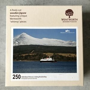 Wentworth  250 Piece Wooden Jigsaw Puzzle Hebridean Princess Brodick Bay Whimsy