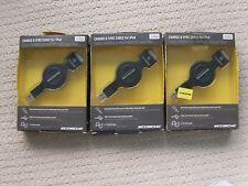 LOT OF 3 Scosche - SleekSYNC 2.7' Retractable USB 2.0 Cable - Black IPUSBKR