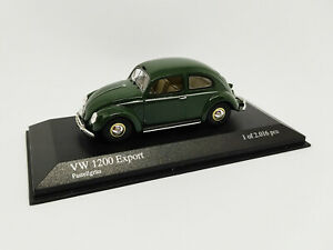 MINICHAMPS 1:43 - VW 1200 Export Pastellgrün 1951 1 Des 2016 Pcs 431051201 Neuf