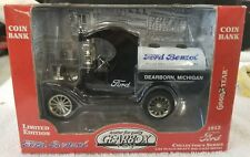 GEARBOX Ltd. Ed. 1912 FORD BENZOL Oil Tanker Diecast COIN BANK - 1:24, (10D)