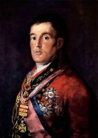 No framed Oil painting young man portrait Duke of Wellington unframed canvas