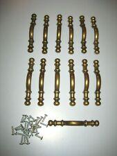 Antique Amerock Brass Ball End Cabinet Drawer Pulls Handles 745-1 Lot of 13 Set