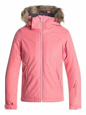 Roxy American Pie Solid Snow Jacket - Youth Girls - Shell Pink (Mhg2) - 10/M