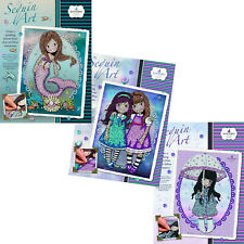 Sequin Art Santoro Gorjuss 3 Craft Projects Gift Set Bundle