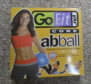 Go Fit 20cm Core Ab Ball.  Go Fit Abball. With Training DVD
