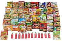 Pho Udon Rice and Ramen Noodles Variety 12 pack w/Sriracha & Chopstick USA Store