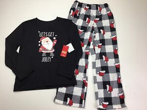 Boys Christmas Pajamas Size 8.  Jammies For Your Families. Lets Get Jolly Santa