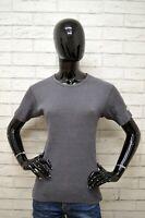 Maglia LEVIS Taglia Size L Donna Woman Maglietta Shirt Grigio Polo Cotone Slim