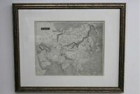 """JOSHUA YEAGER 19th Century Antique Uncoloured Map Of Asia Continent 9.5 x 7.75"""""""