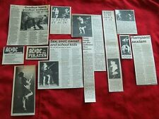 LOT AC/DC ORIGINAL 1970'S / 80'S VINTAGE CLIPPINGS ADVERTS ARTICLES GIG REVIEWS