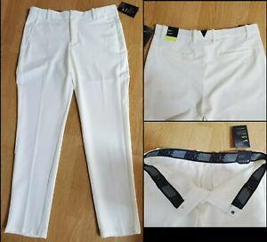 Nike Golf Flex Pants Slim Dri-Fit White BV0273-133 Men's Size 34x32 NWTs