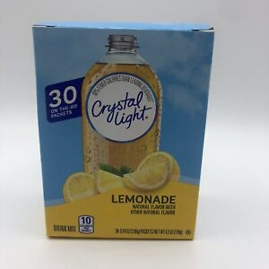 Crystal Light LEMONADE Drink Mix On the Go 30 Packets Singles Exp 11/25/2022 NEW