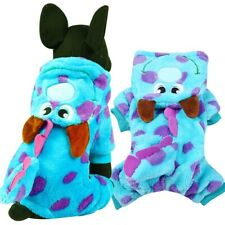 Classic Cartoon Winter Small Dog Clothes Pet Puppy Warm Vest Fleece Cat Hooded