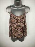 WOMENS MISS SELFRIDGE BLACK PINK SPAGHETTI STRAP STRETCH VEST TOP SIZE UK 10