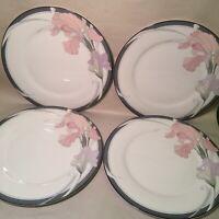 "Set of 4 Noritake New Decade CAFE DU SOIR 9091 Dinner Plates 10 1/2"" MINT"