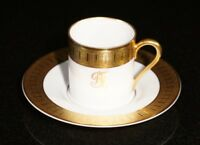 Stunning Rosenthal Selb Plossberg Gold Encrusted Aida Expresso Cup And Saucer